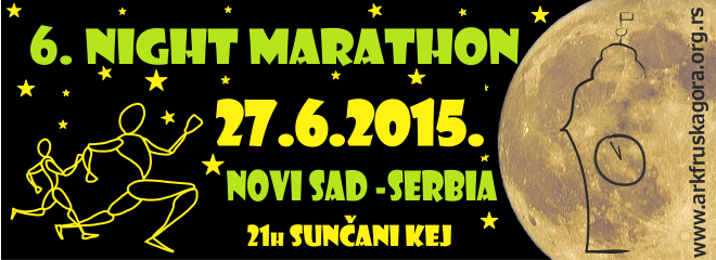 We are happyto announce  the 6th Night Marathon , the secondmost visited race in Serbia! The 6. Night Marathon will take place 27.6.2015. in…